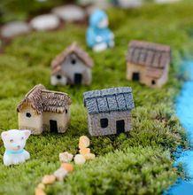 8 peças de moda de Nova bonito artesanato resina casa de fadas jardim miniaturas gnome Micro paisagem decoração bonsai para decoração de casa(China (Mainland))