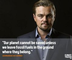 #LeoDiCaprio makes a bold statement at the signing of the #ParisAgreement. #BreakFree #keepitintheground