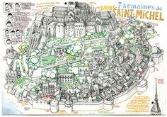 Florent Chavouet - Mont St Michel map