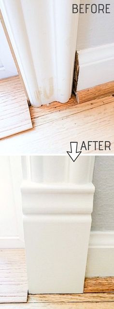 Easy DIY Remodeling Ideas On A Budget (before and after photos) DIY Door Trim is an easy way to upgrade your home! A list of some of the best home remodeling ideas on a budget. Easy DIY, cheap and quick updates for your kitchen, living room, bedrooms a Easy Home Decor, Cheap Home Decor, Diy Décoration, Easy Diy, Home Renovation, Home Remodeling, Cheap Remodeling Ideas, Kitchen Remodeling, Cheap Renovations