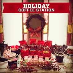 Create a #Holiday #Coffee Station in your home - it will be the coziest corner all year long!