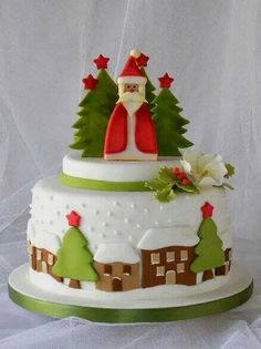 Christmas Bakery Shop Display... Beautiful Cake.