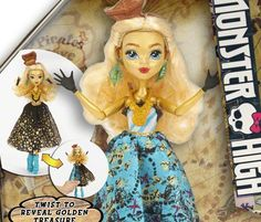 Shriek Wrecked Dana Treasura Jones (Daughter of Davy Jones). Nothing Monster High about the design. Looks like a boring lame Barbie you find anyday at a toy store. Or a character from Every After High maybe. Lame and cheap desperate gimmicks on the dress.