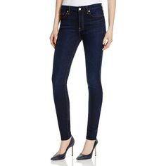 7 For All Mankind Mid-Rise Skinny Jeans in Dark Madrid Night - Compare... ($82) ❤ liked on Polyvore featuring jeans, dark madrid night, blue skinny jeans, dark blue skinny jeans, skinny jeans, denim skinny jeans and dark denim skinny jeans