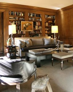 Library. Thom Filicia design.