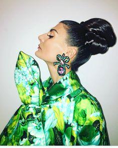 always love a good Hair do Hair by @olivierschawalder make up @francescacannas.mua #fashionawards wearing @richardquinn1 coat and @gucci…