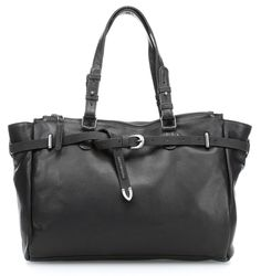 Leder cm schwarz 37 Handtasche Lucky Star qxOzCCH