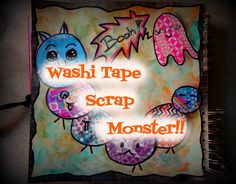 Video: Washi Tape Scrap Monster!!