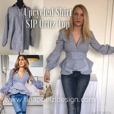 DIY upcycle sewing tutorial on how I made the SJP top designed by Johanna Ortiz . - DIY upcycle sewing tutorial on how I made the SJP top designed by Johanna Ortiz from an old man shirt. refashion the shirt into an amazing top Source by ninamacaron - Sewing Projects For Beginners, Sewing Tutorials, Sewing Tips, Sewing Hacks, Diy Projects, Diy Fashion Projects, Sewing Crafts, Sewing Patterns Free, Free Sewing