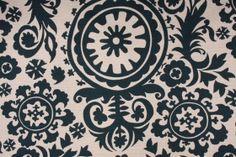 Window Treatment.  Fabric Guru: Premier prints Suzani- Birch printed textured cotton drapery fabric in Titan $7.95/yd  CODE: 3404 30.4