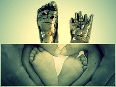 baby hand and feet...