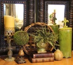 Savvy Seasons by Liz: Bringing Tuscany To The Family Room French Country Decorating, Tuscan Decorating, Home Staging, Tuscan Style Homes, Tuscan House, Home Accents, Green Accents, Farmhouse Decor, French Farmhouse