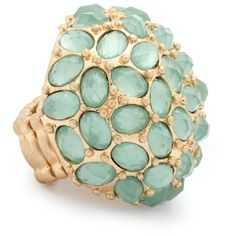 Aqua jewelled dome adjustable ring ($4.24) ❤ liked on Polyvore featuring jewelry, rings, accessories, aqua, women's clothing, aqua jewelry, jewel rings, aqua ring, jewels jewelry and dome ring