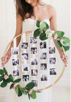 diy Wedding Crafts: Hanging Floral Photo Hoop – www.diyweddingsma… diy Wedding Crafts: Hanging Floral Photo Hoop – www. Trendy Wedding, Dream Wedding, Wedding Day, Wedding Rustic, Wedding Vintage, Wedding Rings, Vintage Diy, Floral Wedding, Wedding Flowers