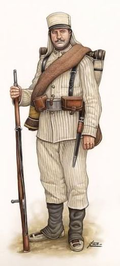 Spanish Infantry Soldier, 1909                                                                                                                                                                                 Más