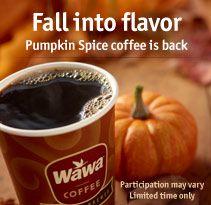 Finally! Wawa Pumpkin spice coffee is back! <3 #Lovin fall