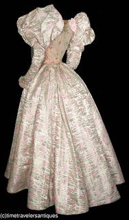 All The Pretty Dresses: 1890's puffy cotton candy dress with matching shoes