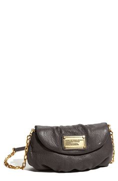 MARC BY MARC JACOBS 'Classic Q - Karlie' Crossbody Flap Bag - faded aluminum (I love this color!)