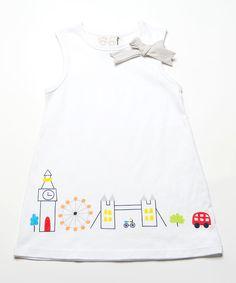 White Avenue Ribbon Dress - Infant, Toddler & Girls by Lourdes #zulily #zulilyfinds