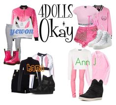 4DOLLS - Okay by mikki102 on Polyvore featuring polyvore fashion style Topshop Lipsy Moschino Juicy Couture Ødd. Boutique Moschino Calvin Klein Cheap Monday Just Cavalli Madden Girl Giuseppe Zanotti Ash Dr. Martens clothing