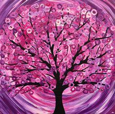 Art Print  'Raspberry Ripple' Tree Painting by louisemead on Etsy, £12.50