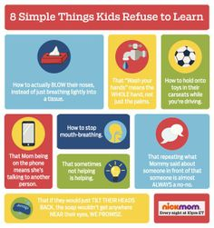 8 Simple things kids refuse to learn.