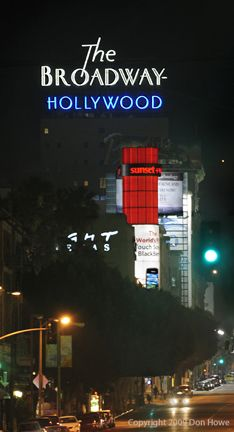 The Broadway neon sign, Hollywood Boulevard, Los Angeles