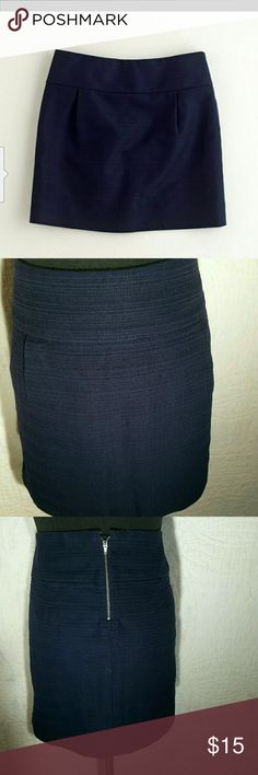 """J. Crew Textured Cotton Mini Skirt This skirt sits below the waist and has a zipper in the back with an eye hook closure   Length 16"""" 100% Cotton  Machine Wash J. Crew Factory Skirts Mini"""