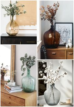 Fall Home Decor, Diy Home Decor, Room Decor Bedroom, Living Room Decor, Vases Decor, Table Decorations, White Kitchen Decor, Deco Floral, Interior Decorating