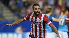 Atletico Madrid's Turkish midfielder Arda Turan celebrates after scoring during the UEFA Champions league football match Atletico de Madrid vs FC Zenit St Petersburg at the Vicente Calderon stadium in Madrid on September 2013 Champions League Football, Fc Liverpool, Best Pens, World Football, World Cup 2014, Football Match, Arsenal Fc, Best Player, Goalkeeper