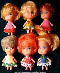 Ok, I'm dating myself here but when I was a little girl back in the 60's, my favorite dolls were Kiddles! Does anyone else remember these?