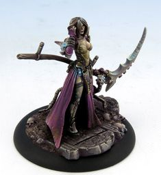 Jen - Harvester of Souls - Visions in Fantasy - Miniature Lines Reaper Miniatures, 28mm Miniatures, Fantasy Miniatures, Warhammer Models, Warhammer Fantasy, Warhammer 40k, Warhammer Tabletop, Zbrush Tutorial, Miniature Figurines