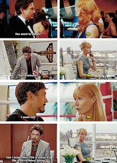 """No, Tony, no.<<<< I will explain the movie in 7 words. Pepper says, """"Tony, no."""" Does thing anyways."""