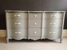 Stunning French Modern Chic 9Drawer Dresser by AFreshCoatOfPaint