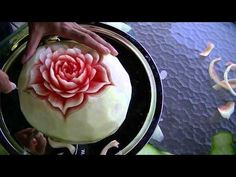 The Christmas Apple Design - Beginners Lesson 19 By Mutita The Art Of Fruit And Vegetable Carving - YouTube