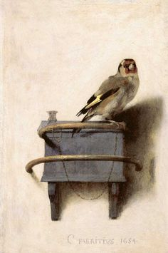 Carel Fabritius,The Goldfinch, 1654. Photo: Royal Picture Gallery Mauritshuis, The Hague