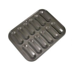 12 Cavity Eclairs Pan - STADTER - / Ideal for baking french Eclairs. Non-stick baking sheet. With recipes in English. Baking Utensils, Baking Tins, Baking Sheet, Eclairs, Eclair Recipe, Biscuits, English Food, Cake Tins, Decorating Tools