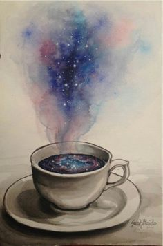 Galaxy in a cup