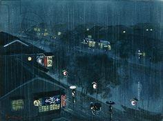 Vicsmuse: Rain - Japanese Woodblock Prints