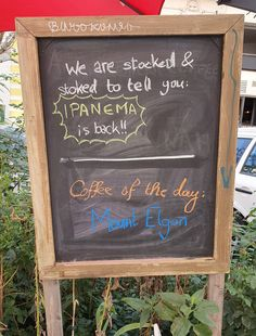 Alle Kaffee's sind wieder verfügbar! To Tell, Chalkboard Quotes, Art Quotes, Artisan, Told You So, Day, Kaffee, Craftsman