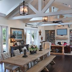 Family Room Design Inspiration Pictures Remodels And Decor Rustic TableWooden Dining