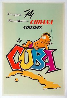 1955 Cubana Airlines Cuba Poster by Harry W. Graff, Inc.