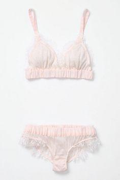 a beautiful bra and panty set.
