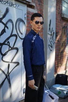 "meoutfit : meoutfit # 1779 ""Blue Shirt - Milano"""