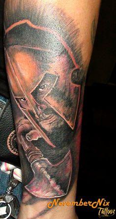 The Spartan Tattoo - http://99tattooideas.com/spartan-tattoo-2/ #tattoo