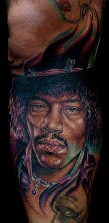 Jimi Hendrix Tattoo by Cecil Porter Fan Tattoo, Tattoo Ink, Flying Tattoo, Body Art Tattoos, Portrait Tattoos, Tatoos, Tattoo Addiction, Tattoo Shows, Cool Tats