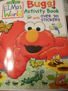 Sesame Street Elmos World Coloring Activity Book With Stickers Bugs By Bendon 500