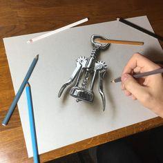 "Marcello Barenghi su Instagram: ""My drawing of a wing corkscrew. It took me: 4 hours 10 minutes. Drawing video: https://youtu.be/QTOZwfQq7KU?list=PLEKv0jWmqLM3uGkCTtLBn6Gof2WRe6n7Y #marcellobarenghi 2014"""