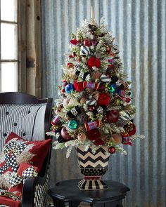 Holiday+Frost+Tabletop+Christmas+Tree+by+MacKenzie-Childs+at+Neiman+Marcus.