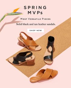 Shop Anything But Basic Black And Tan Leather Sandals At The Official Loeffler… Fashion Website Design, Shoes Editorial, Tan Leather Sandals, Banners, Fashion Banner, Minimalist Shoes, Still Photography, Shoes Photo, Only Shoes